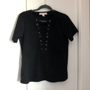 Michael by Micheal Kors suede T-shirt